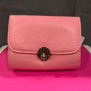Mini hot pink crossbody/ clutch.
